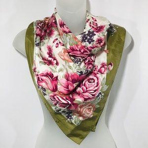 Adrienne Vittadini Vintage Floral Silk Scarf
